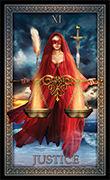 Justice Tarot card in Tarot Grand Luxe deck