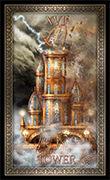 The Tower Tarot card in Tarot Grand Luxe deck