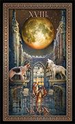 The Moon Tarot card in Tarot Grand Luxe deck