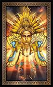 The Sun Tarot card in Tarot Grand Luxe deck