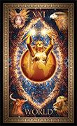 The World Tarot card in Tarot Grand Luxe deck