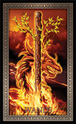 Ace of Wands Tarot card in Tarot Grand Luxe deck