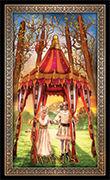 Four of Wands Tarot card in Tarot Grand Luxe deck