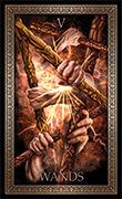 Five of Wands Tarot card in Tarot Grand Luxe deck