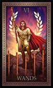 Six of Wands Tarot card in Tarot Grand Luxe deck