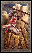 Seven of Wands Tarot card in Tarot Grand Luxe deck