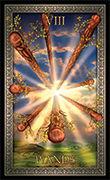 Eight of Wands Tarot card in Tarot Grand Luxe deck