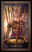 Nine of Wands Tarot card in Tarot Grand Luxe deck