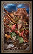 Ten of Wands Tarot card in Tarot Grand Luxe deck
