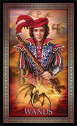 Page of Wands Tarot card in Tarot Grand Luxe deck