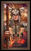 Knight of Wands Tarot card in Tarot Grand Luxe deck