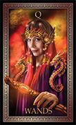 Queen of Wands Tarot card in Tarot Grand Luxe deck