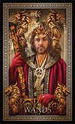 King of Wands Tarot card in Tarot Grand Luxe deck