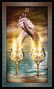 Two of Cups Tarot card in Tarot Grand Luxe deck