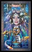Queen of Cups Tarot card in Tarot Grand Luxe deck