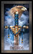 Ace of Swords Tarot card in Tarot Grand Luxe deck
