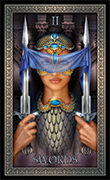 Two of Swords Tarot card in Tarot Grand Luxe deck