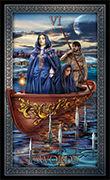 Six of Swords Tarot card in Tarot Grand Luxe deck