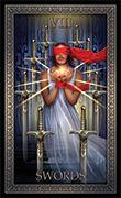Eight of Swords Tarot card in Tarot Grand Luxe deck
