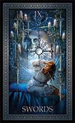 Nine of Swords Tarot card in Tarot Grand Luxe deck