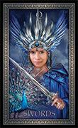 Queen of Swords Tarot card in Tarot Grand Luxe deck