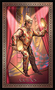 Two of Pentacles Tarot card in Tarot Grand Luxe deck