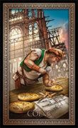 Three of Pentacles Tarot card in Tarot Grand Luxe deck