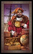 Four of Pentacles Tarot card in Tarot Grand Luxe deck
