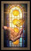 Five of Pentacles Tarot card in Tarot Grand Luxe deck