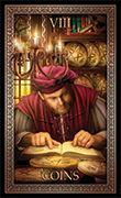 Eight of Pentacles Tarot card in Tarot Grand Luxe deck