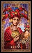 Nine of Pentacles Tarot card in Tarot Grand Luxe deck