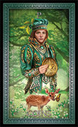 Page of Pentacles Tarot card in Tarot Grand Luxe deck