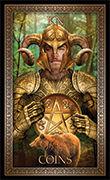 Knight of Pentacles Tarot card in Tarot Grand Luxe deck