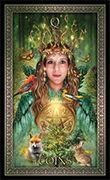 Queen of Pentacles Tarot card in Tarot Grand Luxe deck