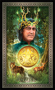 King of Pentacles Tarot card in Tarot Grand Luxe deck