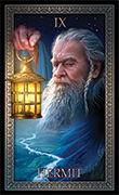 The Hermit Tarot card in Tarot Grand Luxe deck