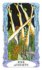 tarot-moon-garden - Five of Wands