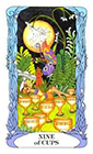 tarot-moon-garden - Nine of Cups