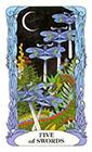 tarot-moon-garden - Five of Swords