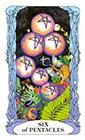 tarot-moon-garden - Six of Coins