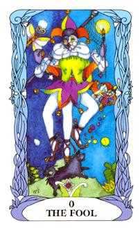 The Foolish Man Tarot Card - Tarot of a Moon Garden Tarot Deck
