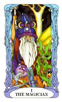 The Magus Tarot Card - Tarot of a Moon Garden Tarot Deck