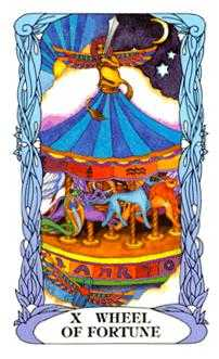 Wheel of Fortune Tarot Card - Tarot of a Moon Garden Tarot Deck
