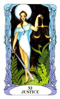 Karma Tarot Card - Tarot of a Moon Garden Tarot Deck