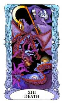Death Tarot Card - Tarot of a Moon Garden Tarot Deck