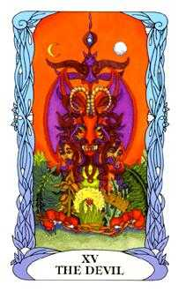 The Devil Tarot Card - Tarot of a Moon Garden Tarot Deck