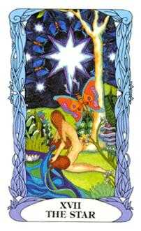 The Star Tarot Card - Tarot of a Moon Garden Tarot Deck