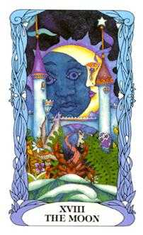 The Moon Tarot Card - Tarot of a Moon Garden Tarot Deck