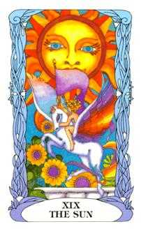 The Sun Tarot Card - Tarot of a Moon Garden Tarot Deck