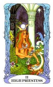 The Priestess Tarot Card - Tarot of a Moon Garden Tarot Deck